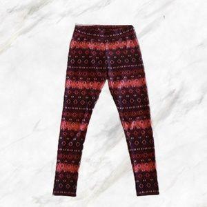 4/$30 🌿 AEO   Maroon Silky Printed Leggings